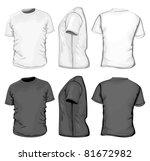 vector. men's t shirt design...   Shutterstock .eps vector #81672982