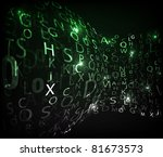 digital abstract letters.... | Shutterstock .eps vector #81673573