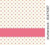 Pink Flower Polka Dot Seamless...