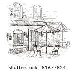 street cafe | Shutterstock .eps vector #81677824