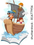 Illustration Of A Pop Up Book...