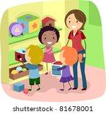 illustration of preschool kids... | Shutterstock .eps vector #81678001