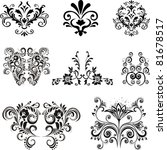 collection of design elements... | Shutterstock .eps vector #81678517