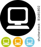 vector desktop computer icon | Shutterstock .eps vector #81681802