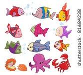 vector illustration  marine... | Shutterstock .eps vector #81684238