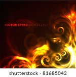 fire   flowers   vector... | Shutterstock .eps vector #81685042