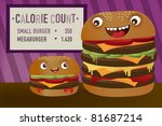 calorie count regular and giant ... | Shutterstock . vector #81687214