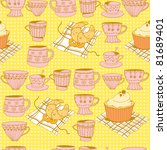 sweets and tea cups | Shutterstock .eps vector #81689401