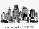 just a sketch of a big city   Shutterstock .eps vector #81691558