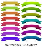 ribbons collection  isolated on ... | Shutterstock .eps vector #81693049