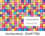 abstract vector background with ... | Shutterstock .eps vector #81697780