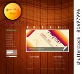 eps10 colorful website template ... | Shutterstock .eps vector #81697996