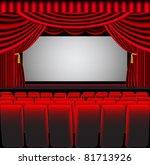illustration premises theater... | Shutterstock .eps vector #81713926