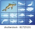 fish on the sea   Shutterstock .eps vector #81725131