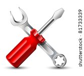 screwdriver and wrench icon.... | Shutterstock .eps vector #81733339