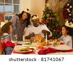 mixed race family having... | Shutterstock . vector #81741067