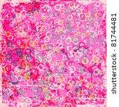 grunge bubbles background | Shutterstock .eps vector #81744481