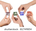 hand and word play isolated on... | Shutterstock . vector #81749854