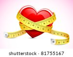 illustration of measuring tape... | Shutterstock .eps vector #81755167