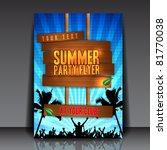 blue summer party flyer design  ... | Shutterstock .eps vector #81770038