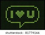 Online Dating  I Love U Message