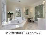 master bath in luxury home with ... | Shutterstock . vector #81777478