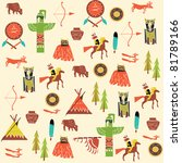 background with american indians | Shutterstock .eps vector #81789166