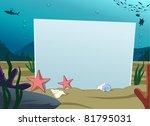 image of blank board under...
