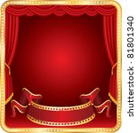 vector blank banner on stage...   Shutterstock .eps vector #81801340