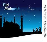 eid mubarak background with... | Shutterstock .eps vector #81804256