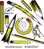 pencil collection | Shutterstock .eps vector #81805567