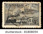 canada   circa 1951  a stamp... | Shutterstock . vector #81808054