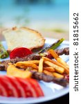 a beatiful turkish shish kebab... | Shutterstock . vector #81815662