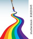 brush  paints rainbow | Shutterstock .eps vector #81820345