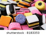 licorice allsorts - stock photo