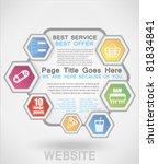 website template | Shutterstock .eps vector #81834841