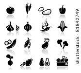 icons set vegetable   Shutterstock .eps vector #81842749