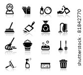 icons set cleaning | Shutterstock .eps vector #81842770