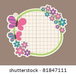 Cute Frame Design. Vector...
