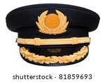 photo of an airline pilots hat... | Shutterstock . vector #81859693