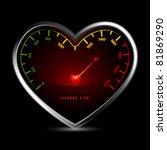 illustration of heart shape... | Shutterstock .eps vector #81869290