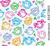 Cheerful Seamless Pattern With...