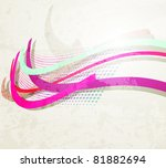 abstract rainbow wave...   Shutterstock .eps vector #81882694