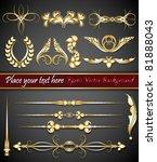 eps10 vector abstract baroque... | Shutterstock .eps vector #81888043