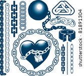 chain collection | Shutterstock .eps vector #81891304