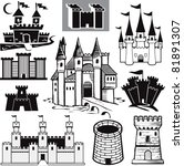 castle collection | Shutterstock .eps vector #81891307