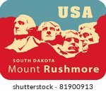 mount rushmore national... | Shutterstock .eps vector #81900913