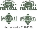 american football and fantasy... | Shutterstock .eps vector #81901933