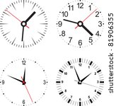 set vector illustration of clock | Shutterstock .eps vector #81906355