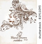 hand drawn floral background... | Shutterstock .eps vector #81911095